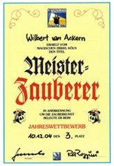 McWIB Urkunde Meisterzauberer