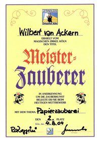 McWIB Urkunde Papierzauberei